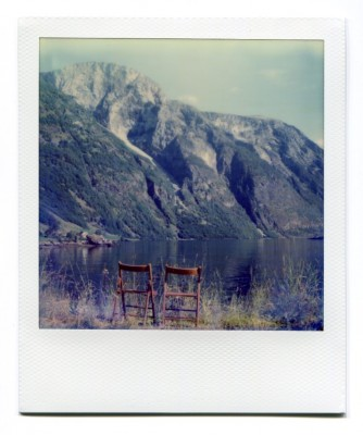 Naeroyfjorden, Norway. Polaroid by Florent Dudognon