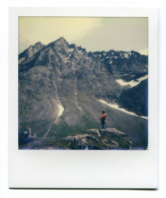 Store Venjetinden, Norway. Polaroid by Florent Dudognon