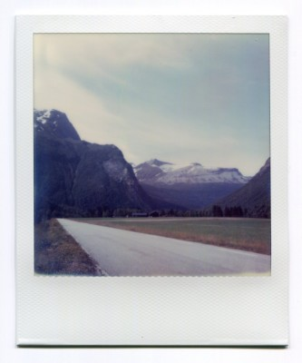 Valldøla valley, Norway. Polaroid by Florent Dudognon