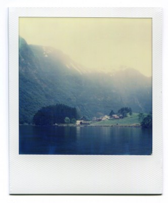 Naeroy, Aurland, Norway. Polaroid by Florent Dudognon