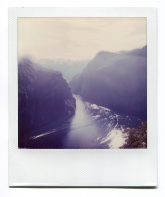 Geirangerfjord, Norway. Polaroid by Florent Dudognon