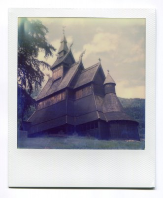 Hopperstad Stavkirke, Norway. Polaroid by Florent Dudognon