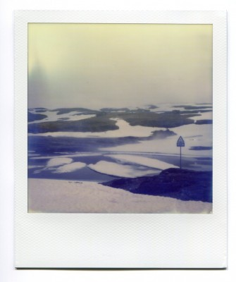 Frozen Lake, Norway. Polaroid by Florent Dudognon