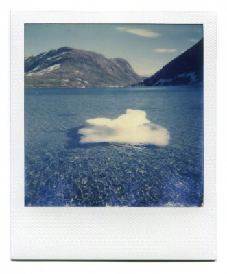 Iceberg, Norway. Polaroid by Florent Dudognon