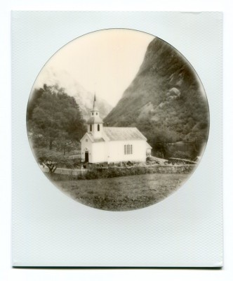 Naeroy, Bakka church, Norway. Polaroid by Florent Dudognon