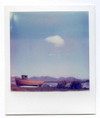 Alone. Ireland. Polaroid by Florent Dudognon