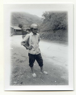Apple delivery, Vietnam. Fuji Instant film by Florent Dudognon