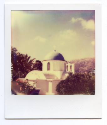 Artemonas, Sifnos, Greece. Polaroid of Florent Dudognon