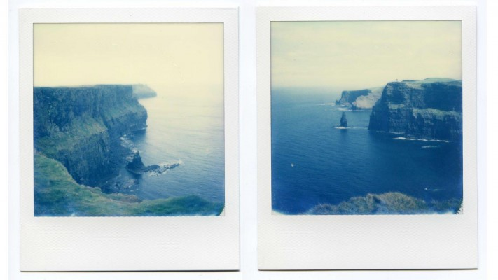 Cliffs of Moher, Ireland. Polaroids by Florent Dudognon