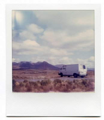 Connemara road, Ireland. Polaroid by Florent Dudognon