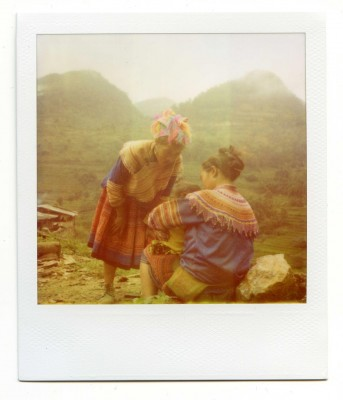 Family, Vietnam. Polaroid by Florent Dudognon