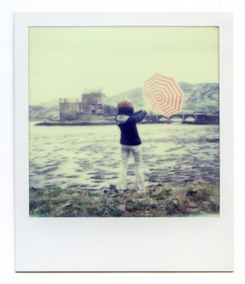 Fly away. Scotland. Polaroid by Florent Dudognon