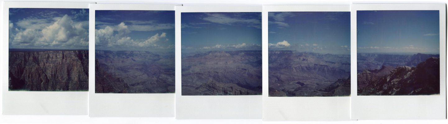 Grand Canyon, USA. Polaroids by Florent Dudognon