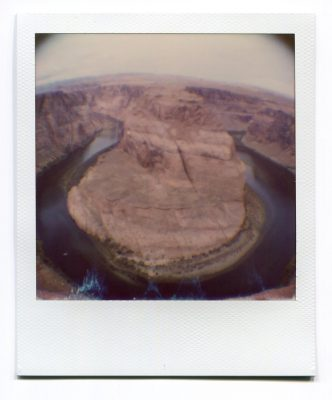 Horsehoe Bend, Page, USA. Polaroid by Florent Dudognon