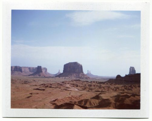 John Ford Point, Monument Valley, USA. Fuji Instant film by Florent Dudognon