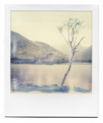 Kilchurn castle, Scotland. Polaroid by Florent Dudognon