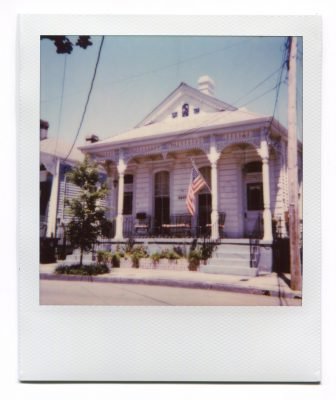 New Orleans house. Polaroid by Florent Dudognon
