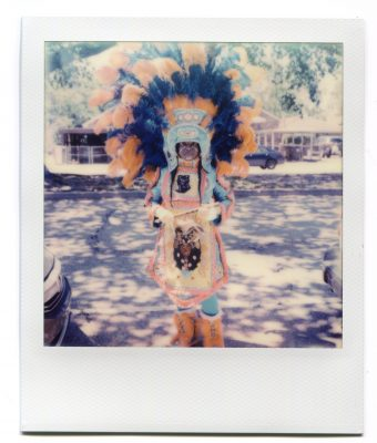 Big Queen Tonya of the Wild Tchoupitoulas. Polaroid by Florent Dudognon