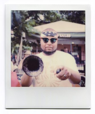 Alijah Jett The Musician. Polaroid by Florent Dudognon