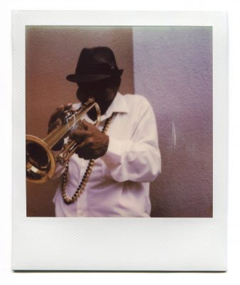 Trumpet Player. Polaroid by Florent Dudognon