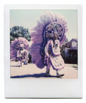 Black Masking Indian. Polaroid by Florent Dudognon