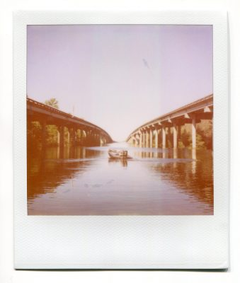 Atchafalaya basin, Louisiana. Polaroid by Florent Dudognon
