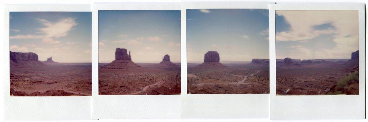 Monument Valley, USA. Polaroid by Florent Dudognon