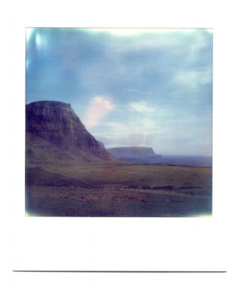 Neist point, isle of Skye, Scotland. Polaroid by Florent Dudognon