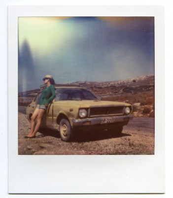 On the road, Greece. Polaroid of Florent Dudognon