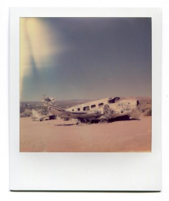 Plane wreck, Beatty, USA. Polaroid by Florent Dudognon