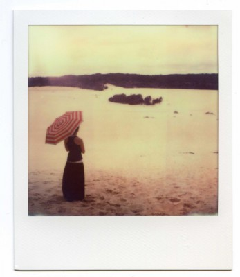 Sea of sand, Australia. Polaroid by Florent Dudognon