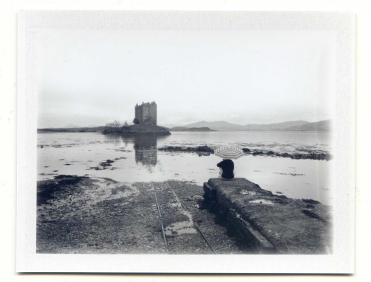 Sea view, Scotland. Fuji Instant film by Florent Dudognon