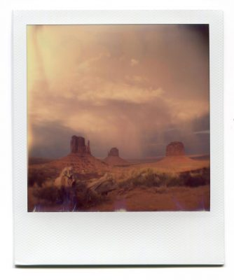 Storm in Monument Valley, USA. Polaroid by Florent Dudognon