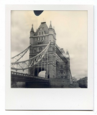 Tower Bridge, England. Polaroid by Florent Dudognon
