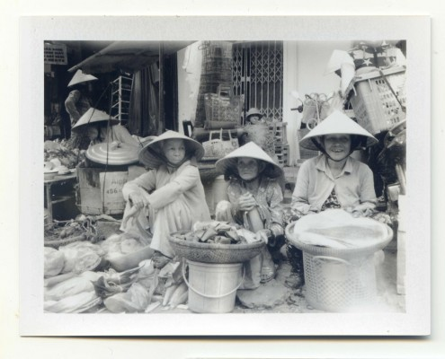 The Triplets. Vietnam. Fuji Instant film by Florent Dudognon