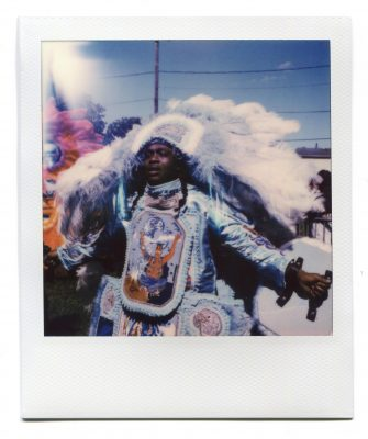 Black Masking Indian at Westbank Super Sunday 2019. Polaroid by Florent Dudognon