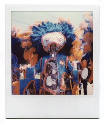 Big Chief Bald Eagle of the Wild Tchoupitoulas. Polaroid by Florent Dudognon