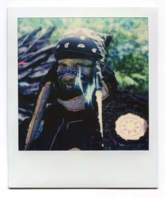 Vernon Martin, Trail Chief of the Uptown Warriors. Polaroid by Florent Dudognon