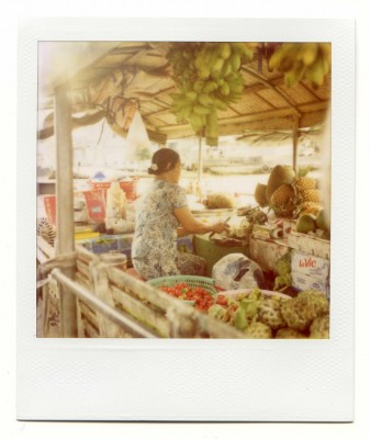 Boat shop, Vietnam. Polaroid by Florent Dudognon