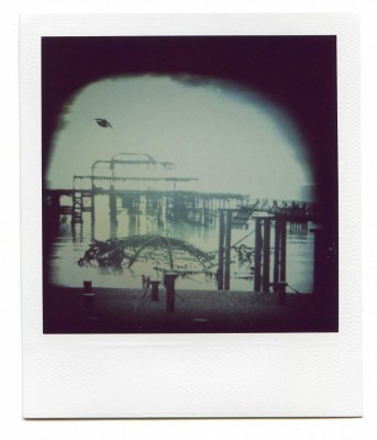 Destroyed. Brighton, England Polaroid by Florent Dudognon