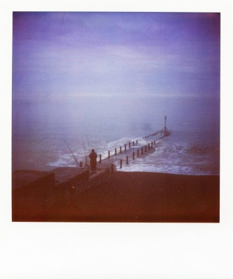 Fisherman, Brighton, England. Polaroid by Florent Dudognon