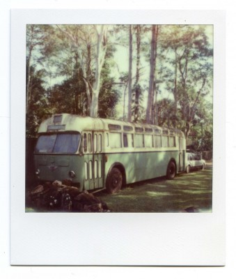 Green bus, Australia. Polaroid by Florent Dudognon