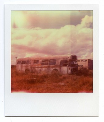 Lost bus, Australia. Polaroid by Florent Dudognon
