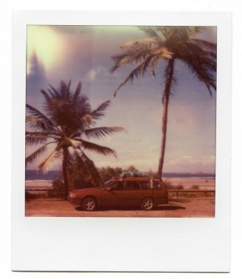 On the road, Australia. Polaroid by Florent Dudognon