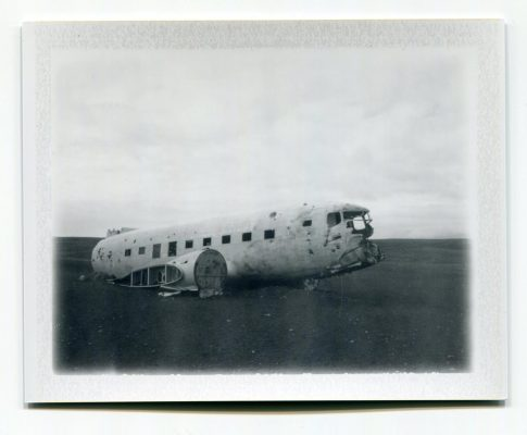 Plane Wreck, Iceland. Fuji Instant film by Florent Dudognon