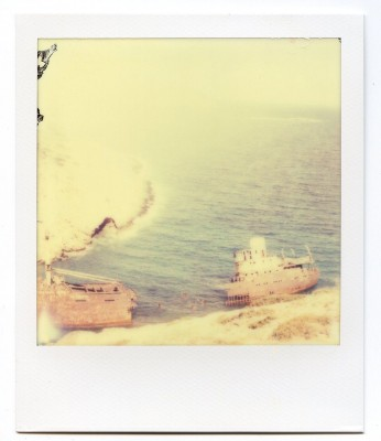 Olympia wreck, Greece. Polaroid by Florent Dudognon