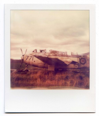 Fairey Gannet wreck, Scotland. Polaroid by Florent Dudognon