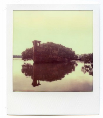 Homebush bay wreck, Australia. Polaroid by Florent Dudognon