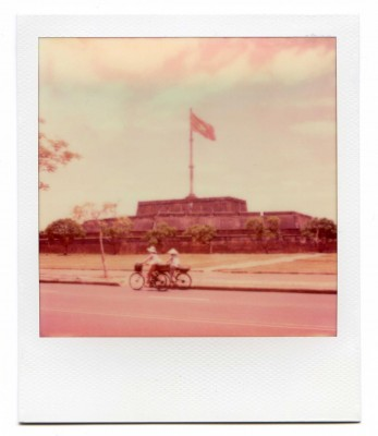 Flag Tower, Hué, Vietnam. Polaroid by Florent Dudognon