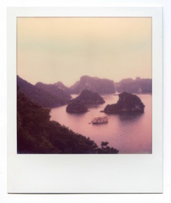 Halong bay, Vietnam. Polaroid by Florent Dudognon